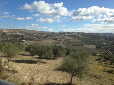 Countryside around Arucimeli in Sicily